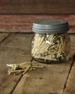 jar of matches
