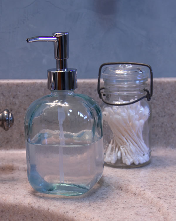 Recycled Glass Soap Dispenser Red Rooster Trading