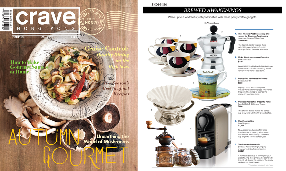 Red Rooster Trading Company featured in Crave Hong Kong Magazine