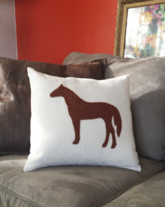 horse-needle-felted-pillow